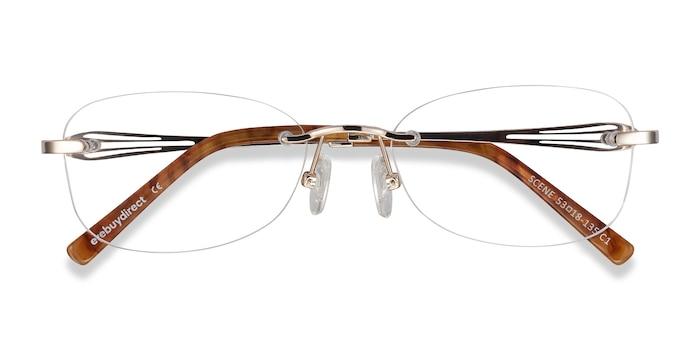 Gold Scene -  Lightweight Metal Eyeglasses