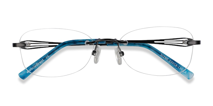 Black Scene -  Lightweight Metal Eyeglasses