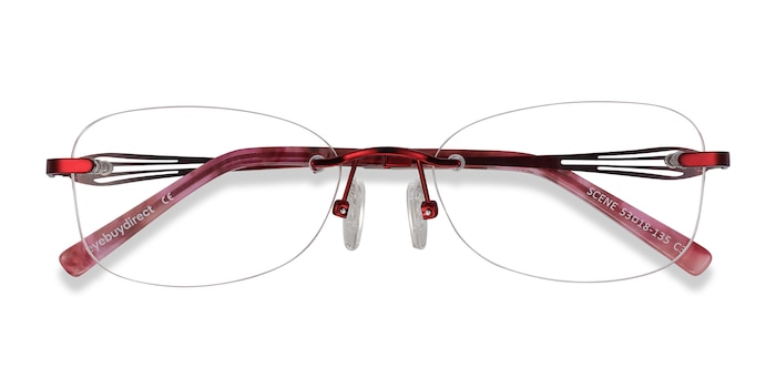 Red Scene -  Metal Eyeglasses