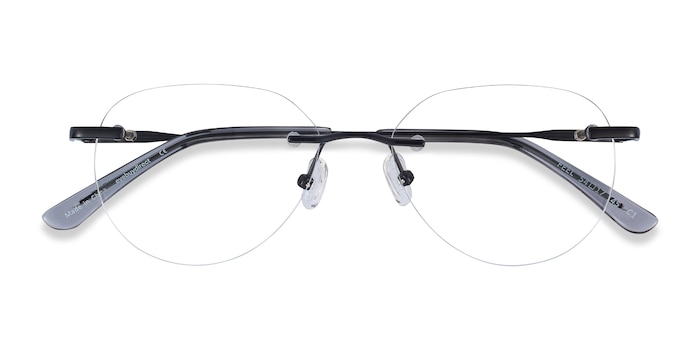 Black Feel -  Lightweight Metal Eyeglasses