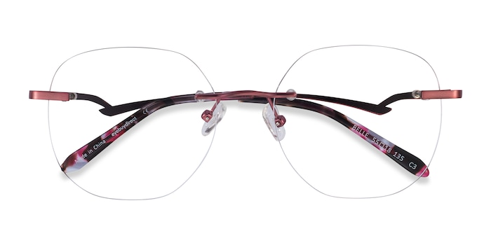 Burgundy Belle -  Classic Metal Eyeglasses