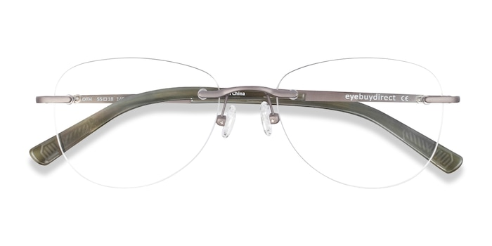 Dark Gunmetal Smooth -  Lightweight Titanium Eyeglasses