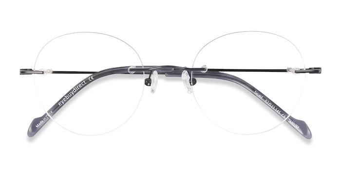 Black Shine -  Lightweight Titanium Eyeglasses