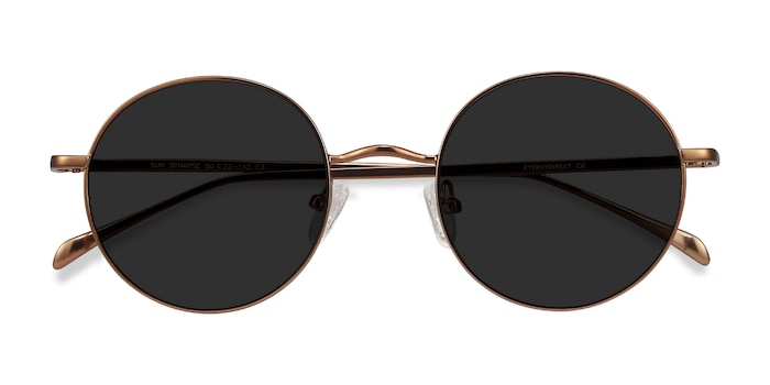 Brown Sun Synapse -  Metal Sunglasses
