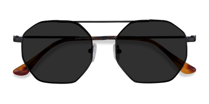 Black Sun Eight -  Vintage Metal Sunglasses