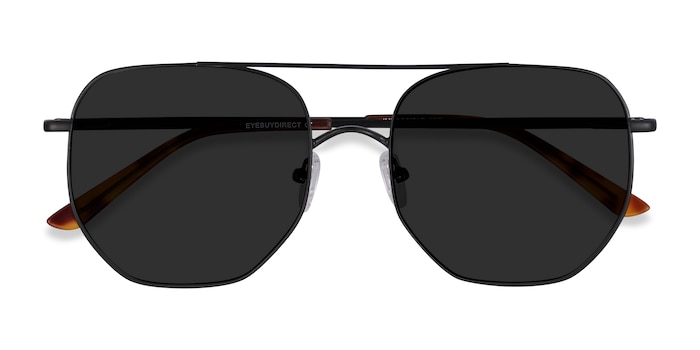 Black Impossible -  Vintage Metal Sunglasses