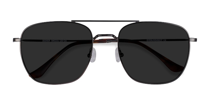 Gunmetal Seeker -  Vintage Metal Sunglasses