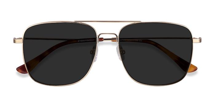 Golden Blaze -  Vintage Metal Sunglasses