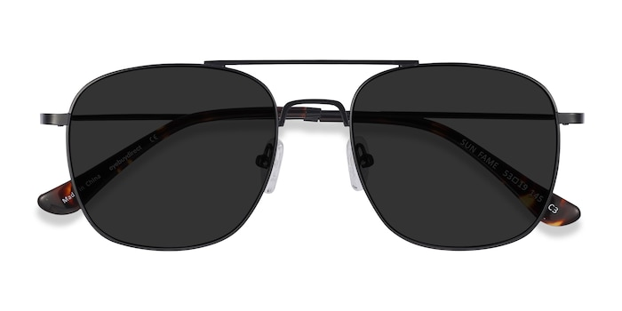 Black Sun Fame -  Vintage Metal Sunglasses