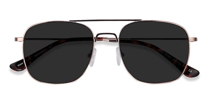 Rose Gold Sun Fame -  Vintage Metal Sunglasses