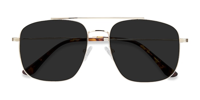 Golden Roadtrip -  Vintage Metal Sunglasses