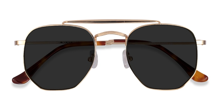 Golden Venture -  Vintage Metal Sunglasses