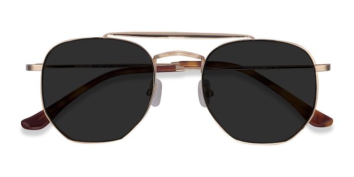 Golden Venture -  Vintage Metal Sunglasses