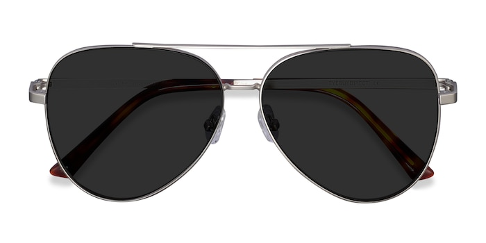 Silver Flier -  Vintage Metal Sunglasses
