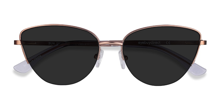 Rose Gold Sun Star -  Metal Sunglasses