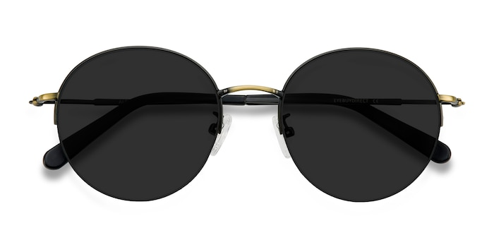 Black Bronze Sun Albee -  Metal Sunglasses