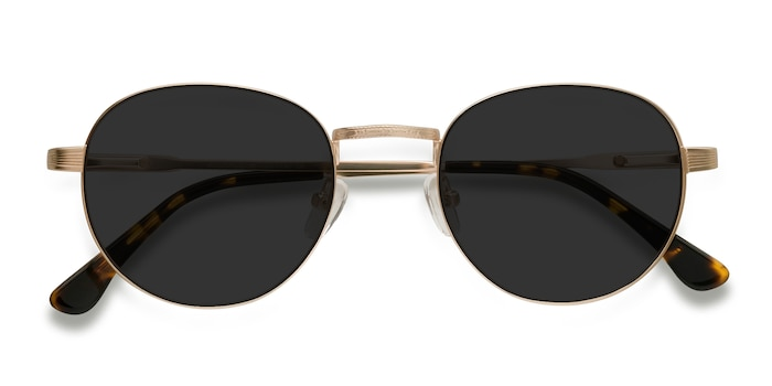Gold Sun Belleville -  Metal Sunglasses