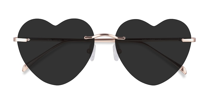 Rose Gold Sun Amore -  Metal Sunglasses