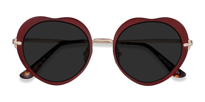 Burgundy Luv -  Metal Sunglasses
