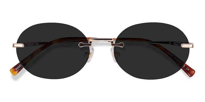 Rose Gold Daze -  Metal Sunglasses