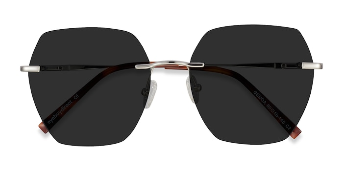 Silver Genoa -  Metal Sunglasses