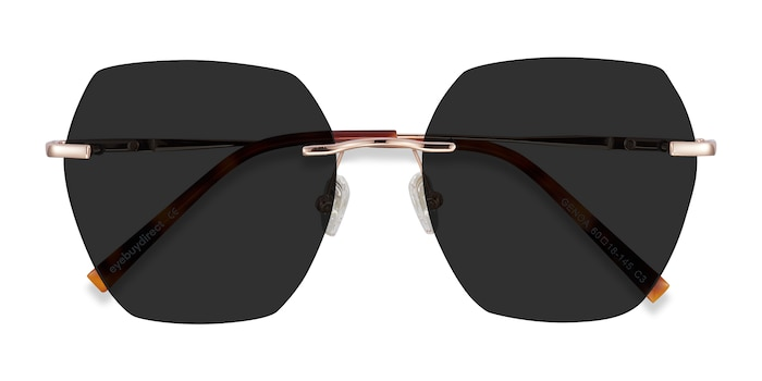 Rose Gold Genoa -  Metal Sunglasses