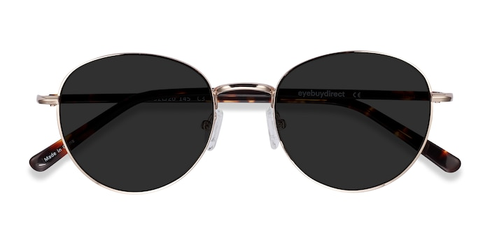 Gold Span -  Acetate, Metal Sunglasses