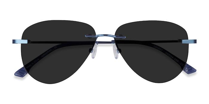 Navy Locket -  Metal Sunglasses