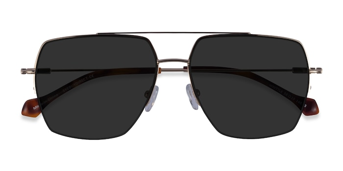 Gold Whittle -  Metal Sunglasses