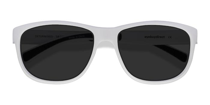 Blanc Determined -  Plastique Lunettes de soleil