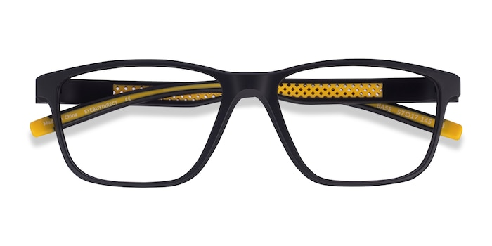 Black Yellow Base -  Plastic Eyeglasses