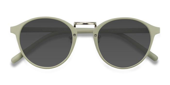 Light Green Millenium -  Plastic Sunglasses