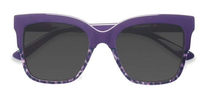Purple Leopard Intrigue -  Acetate Sunglasses