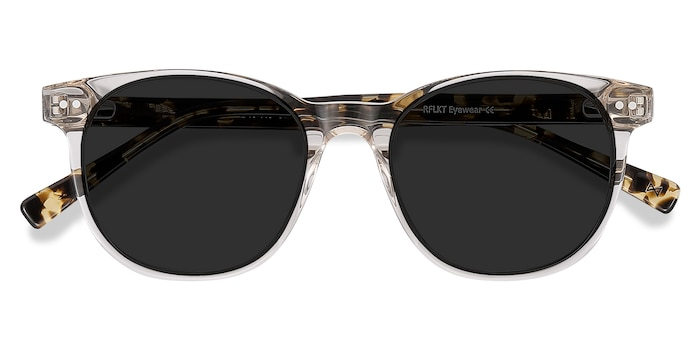 Gray Clear Sol -  Acetate Sunglasses