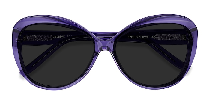 Purple Believe -  Vintage Acetate Sunglasses