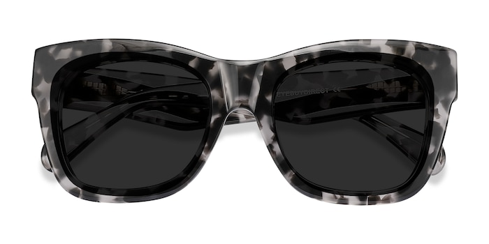 Gray Floral Calico -  Acetate Sunglasses