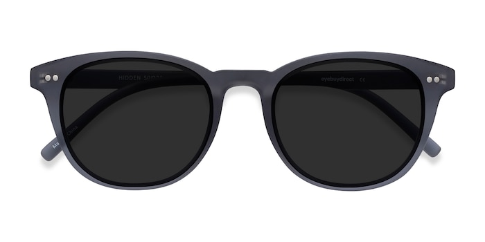 Gray Hidden -  Vintage Plastic Sunglasses