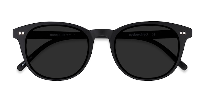 Black Hidden -  Vintage Plastic Sunglasses