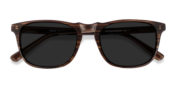 Striped Wave -  Acetate Sunglasses