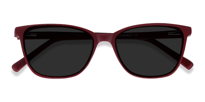 Red Halle -  Vintage Acetate Sunglasses
