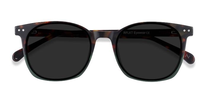 Tortoise Green Soleil -  Acetate Sunglasses