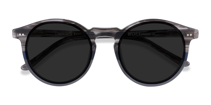 Striped Luminance -  Acetate Sunglasses