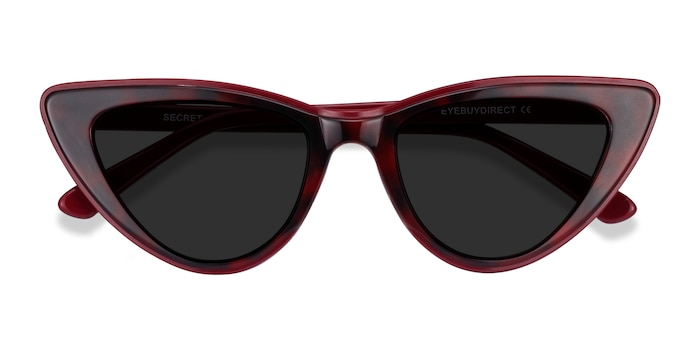 Burgundy Tortoise Secret -  Acetate Sunglasses