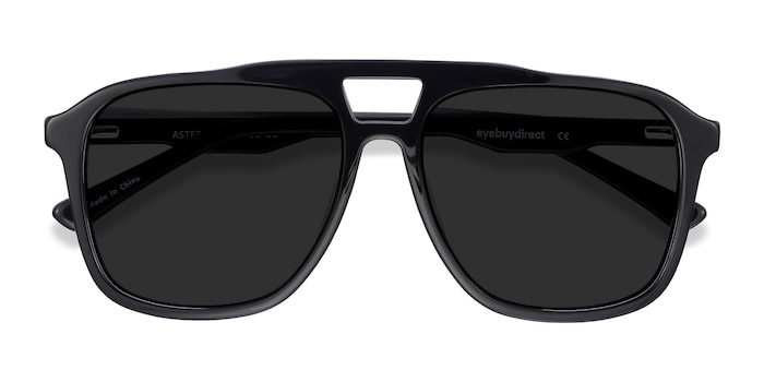Black Aster -  Acetate Sunglasses