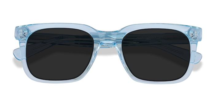Clear Blue Riddle -  Acetate Sunglasses