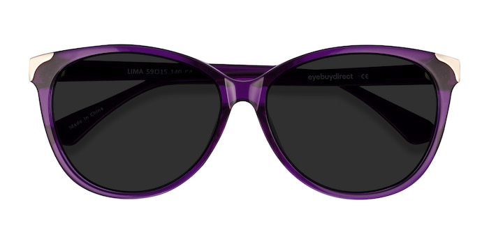 Purple Lima -  Acetate Sunglasses