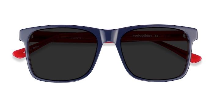 Navy & Red Proud -  Acetate Sunglasses