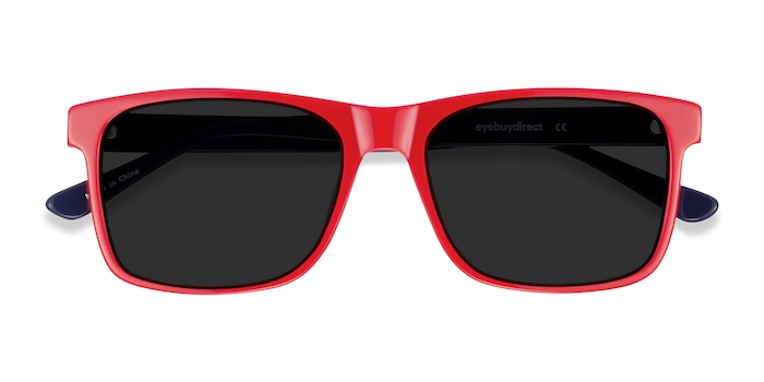 Red & Navy Proud -  Acetate Sunglasses