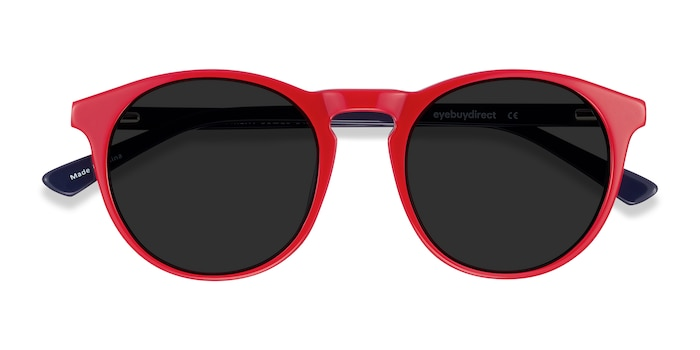 Red & Navy Monument -  Acetate Sunglasses