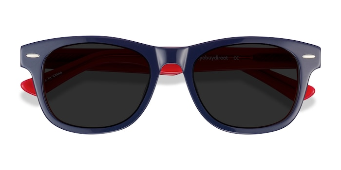 Navy & Red Parade -  Acetate Sunglasses